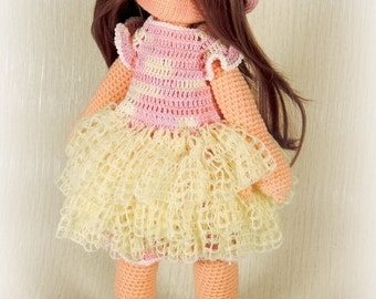 Prensess Doll - pdf crochet pattern