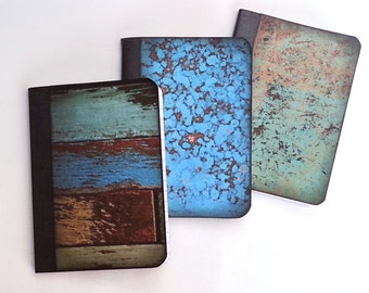 Grunge Style Mini Composition Notebook Set of 3