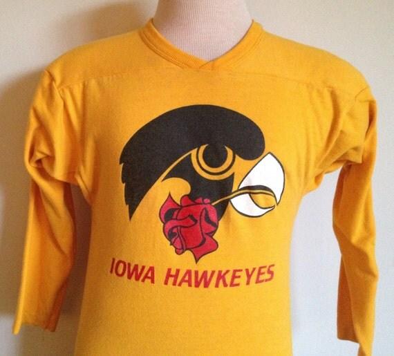 80s vintage iowa hawkeyes university rose bowl by for University of iowa shirts