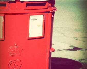 London decor, fine art photograph, London photography, Britain, retro, England picture - Post Box
