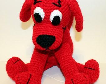 PDF PATTERN: Big Red Dog Crochet Pattern