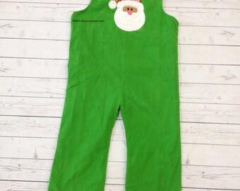 Boys Custom Christmas Longall- monogrammed Red Corduroy Longall