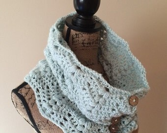 Crochet Pattern for the Wheat Berry Button-up Cowl, PDF Instant Download, Permission to Sell Finished Items.