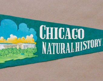 Vintage 'Chicago Natural History Museum' Pennant