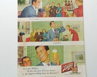 Schlitz Bar Decor Etsy