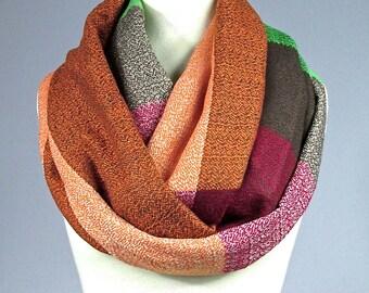 Plaid scarf, oversized scarf, infinity scarf , chunky scarf, winter  scarf