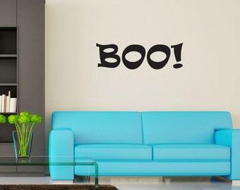Boo! Vinyl Wall Decal Quotes Halloween Sticker Decor (JR356)