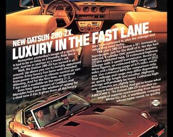 1980 DATSUN 280-ZX Print Ad Nissan 1980's Sports Car 280 ZX Luxury Auto