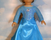 Snow Queen Ice Gown Dress for American Girl Dolls