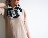 Nursing Cover - Nursing Scarf - Grey Black Striped Infinity Scarf - Chunky Scarf - Cowl Scarf - Chuncky Infinity Scarf - Gift for her