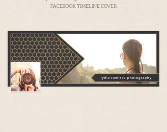 Facebook Timeline Cover - Facebook Timeline Template - PSD Template - Customize Facebook Page - Instant Download - F205