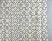 Ecru Beige Taupe White Modern Trellis Sheffield Curtains - Rod Pocket - 84 96 108 or 120 Long by 25 or 50 Wide - Optional Blackout Lining