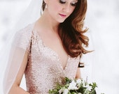 Bacall - Rose Gold Paillettes Old Hollywood Wedding Gown