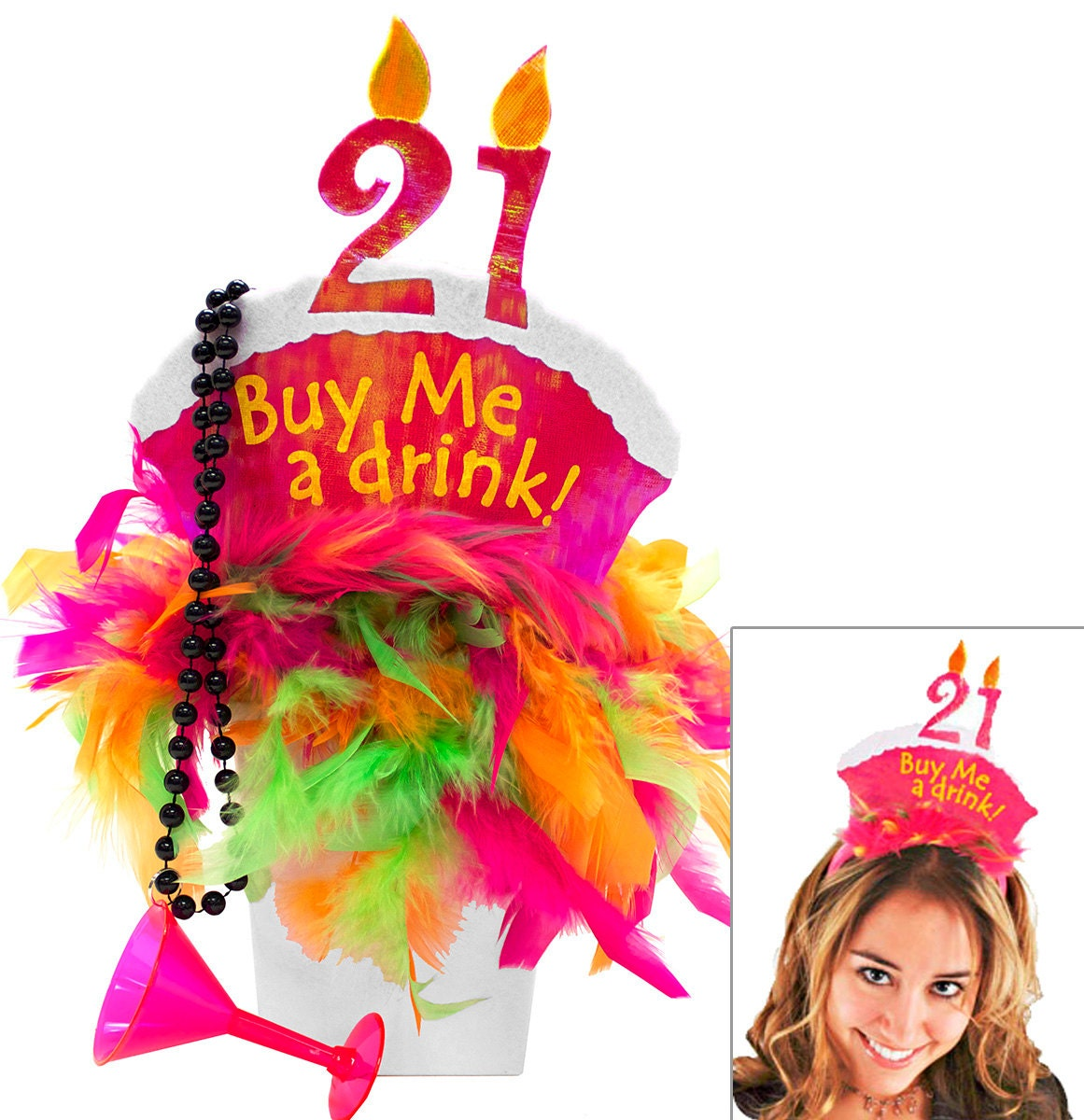 FREE SHIPPING 21st Birthday Gift Set Buy Me A Drink Birthday