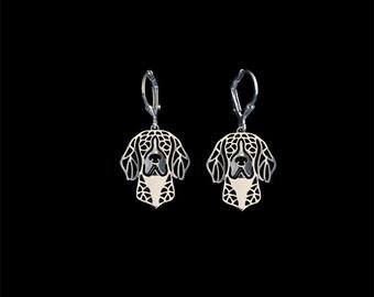 Beagle earrings - sterling silver