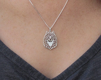 Eurasier jewelry - sterling silver pendant and necklace.