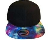 Custom Galaxy Snapback Cosmic Stars Colors Multicolor Snap Back