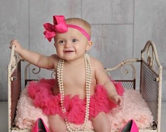 Large Hot Pink Bow Headband, Baby Headband, Newborn Bow Headband, Infant Headbands, Headbands for Babies, Headbands for Baby, Headbands Sets