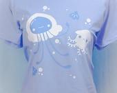 Pastellyfish Jellyfish and Dumbo Octopus Graphic T Shirt Kawaii Fairy Kei Pastel Goth
