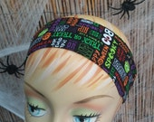 Halloween Headband Black One Size 100% Licensed Cotton Fabric