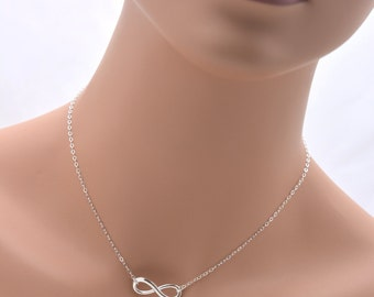 Set of 7 Bridesmaid Infinity Necklaces, 7 Sterling Silver Infinity Necklaces, Bridesmaid Jewelry 0197