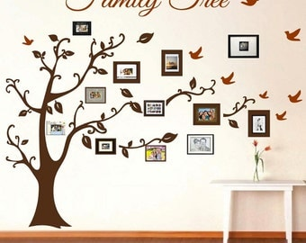Family tree wall decal etsy for Diy family tree wall mural