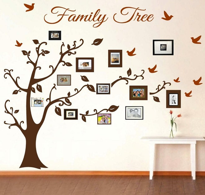 Family Tree Frames For Wall family tree wall decal picture frame wall decals living room