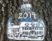 Family Ornament Hand Painted House Portrait
