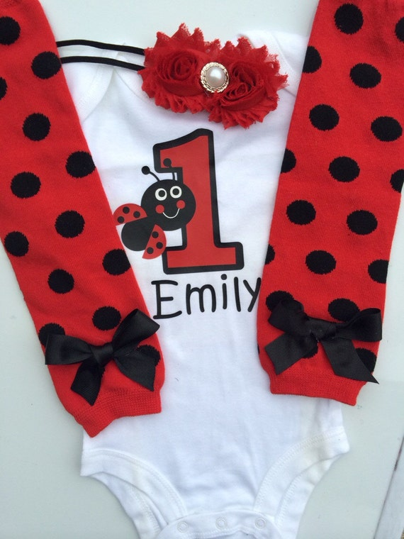 foto de baby girl 1st birthday Ladybug outfit 1st birthday photo