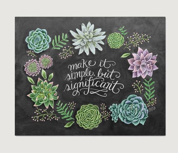 Items Similar To Succulent Wall Art Chalkboard Decor