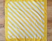 Pretty yellow diagonal stripy scarf