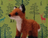 Needle Felted Fox (available as tree ornament)