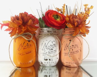 Fall Decor, Mason Jar Centerpieces, Autumn Decor, Home Decor Rustic, Thanksgiving Decor, Fall Decorations, Rustic Centerpiece
