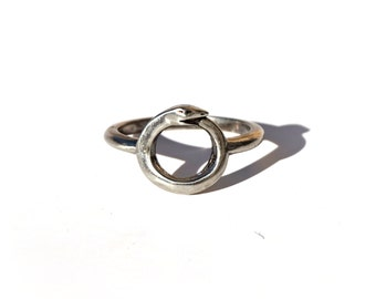 Sterling Silver Small Ouroboros ring by Ouroboros Designs