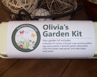 Child's Gardening Kit, Personalized Child's Garden Kit, Craft Kit for Kids, Kid's Gardening Kit, Easter Gift, Child's Birthday Gift