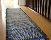 upcycled rug, wool and bike runner, recycled wool and reused bike tube runner