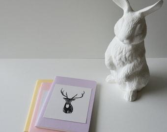 Lilac Moleskine Cahier blank journal with Deer