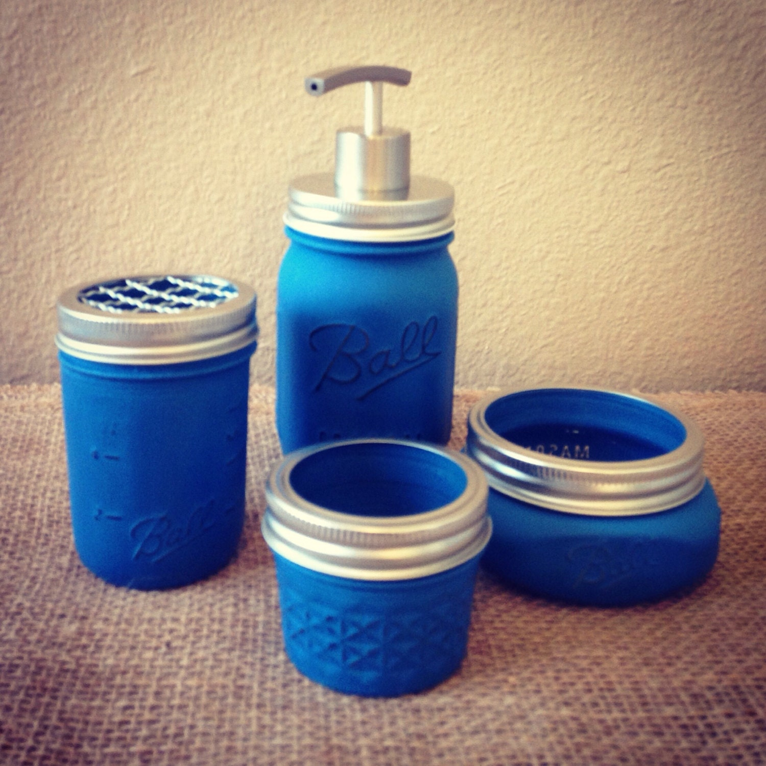 bathroom accessories mason jar bathroom set 4pc mason jar