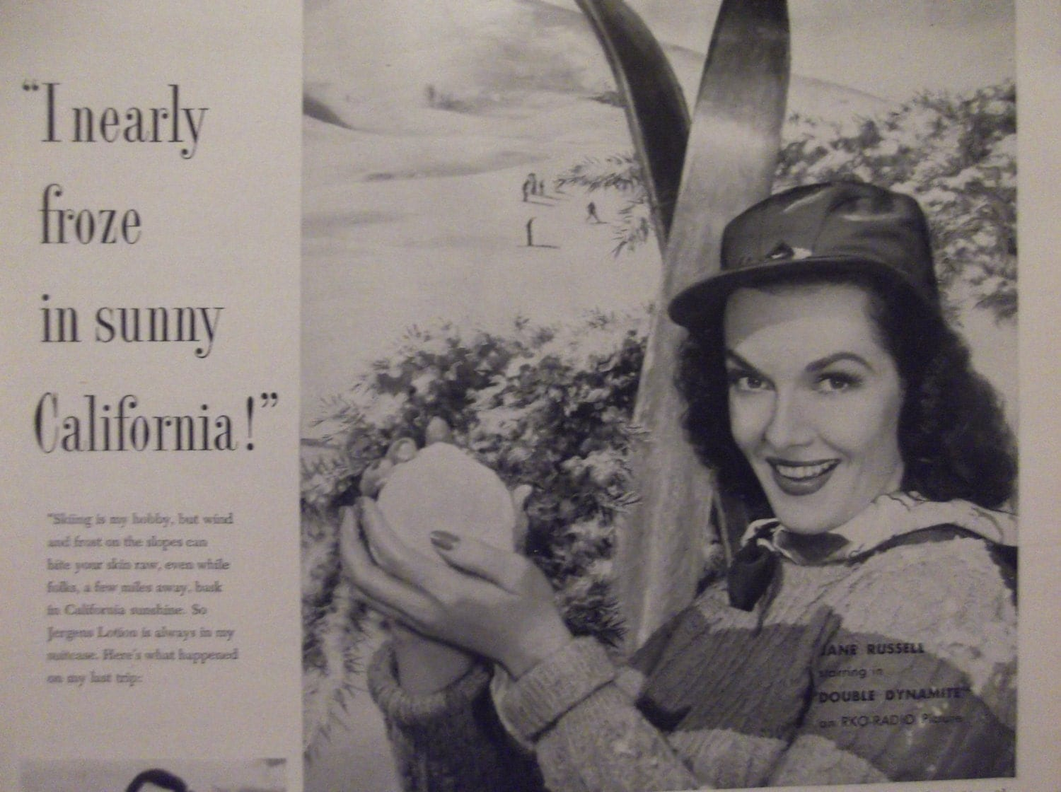 Vintage Jergens Lotion Jergens Lotion Jane Russell