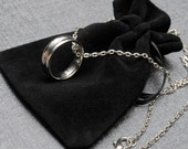 Supernatural Dean Winchester's steel ring on a silver tone necklace – Supernatural cosplay – TV show prop replica