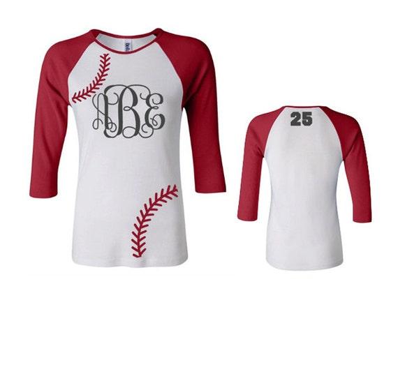 Items Similar To Monogram Baseball Shirt Monogram