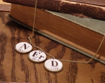 Chemistry Nerd Periodic Table Necklace