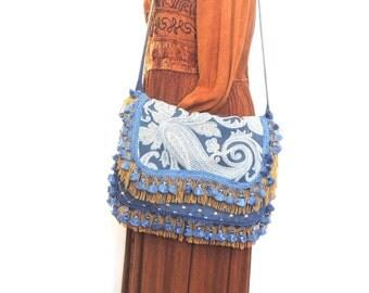 Gypsy purse, Hippie bag, Boho purse, festival bag, messenger bag, Hipster purse, Carrie Original purse