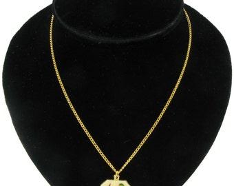 Sagittarius Zodiac Sign Horoscope Enamel Pendant Necklace Vintage