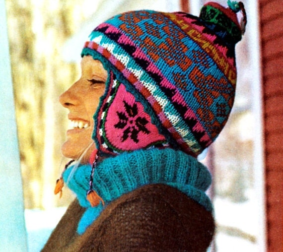 Knitting Pattern Beanie With Ear Flaps : Unavailable Listing on Etsy