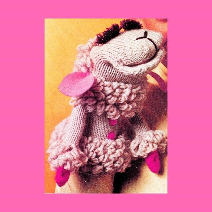 Vintage 70s LAMB Chop Hand Puppet PDF Knitting Crochet