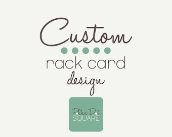 Rack card design Custom design Printable