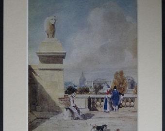 Vintage Thomas Shotter Boys Print of Paris Gift Historical French decor, beautiful artwork of France Gift - Available Framed - Parisian Art