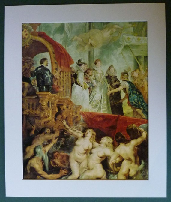 Print of Rubens' Baroque Painting Arrival of by PrimrosePrints