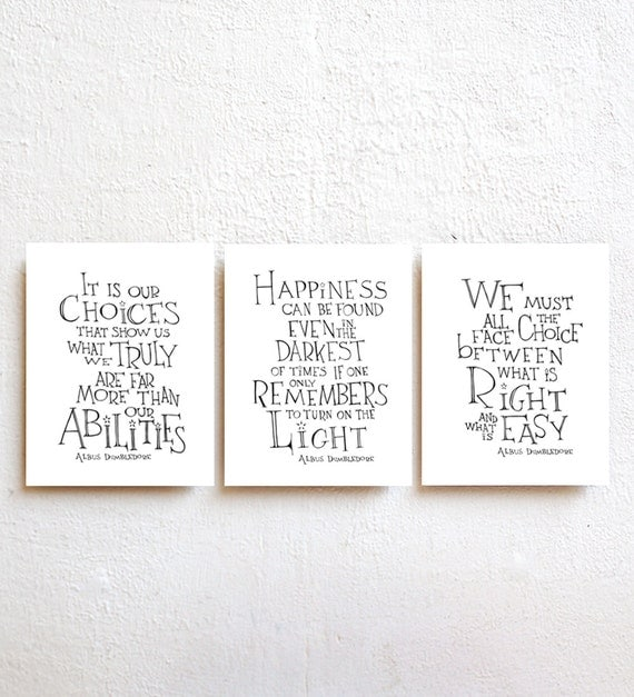 Movie Quotes Wall Art : Set of harry potter movie quote posters by simpleserene